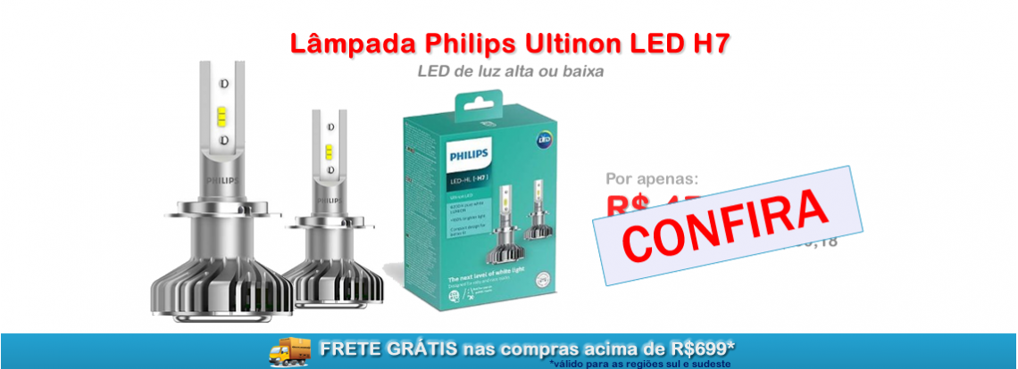 Super LED Philips H7 Ultinon
