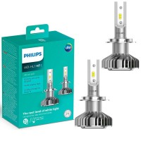 Kit Lâmpada Led Philips Ultinon Led H7 Luxeon +160% Luz
