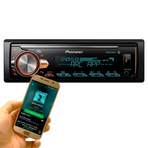 Mp3 Automotivo Pioneer Mvhx30Br Bluetooth Usb Aux Mixtrax Arc