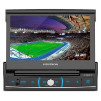 Dvd Player Pósitron Sp6720Dtv 7 Polegadas Retratil 1 Din Tv Digital Bluetooth Usb Sd Aux