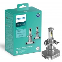 Kit Led Farol H4 Philips Ultinon 12V 6200K 160% + Luz