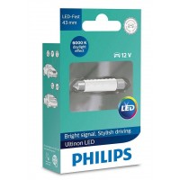 Lâmpada Philips Torpedo Led Ultinon 6000K 43Mm Super Branca