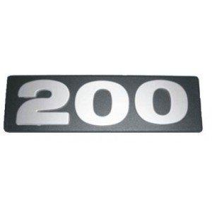 "LETREIRO FRONTAL ""200""CAM SCANI"