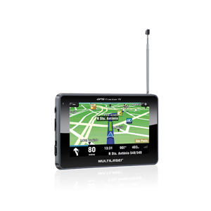 "NAVEGADOR GPS Tela LCD 4.3"" Touchscreen com TV Digital - MULTILASER"
